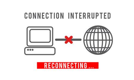 Interrumpida Concepto de error desconectado No Disponible inaccesible