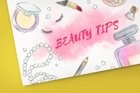Beauty Tips Makeup Accessories Concept Stock Photo