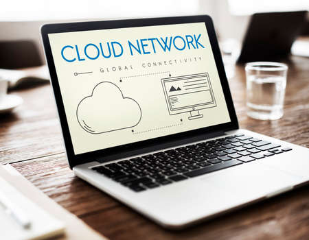 connectivity: Cloud Network Global Connectivity Share Concept