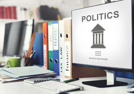 government regulations: Authority Government Pillar Graphic Concept