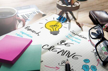 Creativity Design Process Graphics Concept Stock Photo