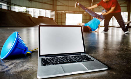 breakdancing: Breakdancing Hip Hop Street Culture Sport Activity Concept Stock Photo