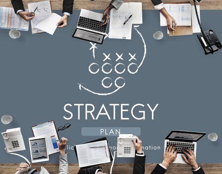 reseach: Strategy Analytics Tactics Goals Planning Concept Stock Photo