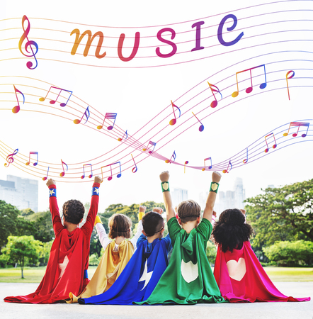 Music Note Art of Sound Instrumental Concept Stock Photo