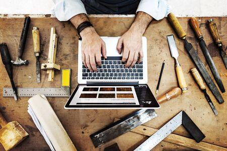 Artigiano Professione Lavoro Pursuit specializzata Concetto