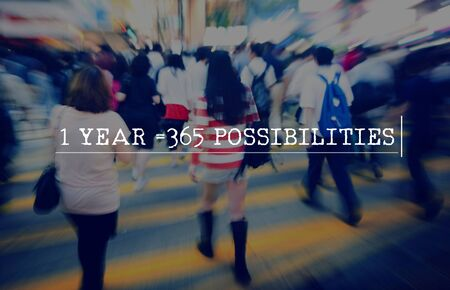 possibilities: Year 2016 Possibilities Chances Changes Concept