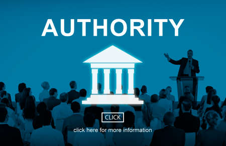 autoridad: Government Authority Law Pillar Graphic