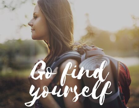 Go Find Yourself Aspirations Goal Success Concept Stock Photo