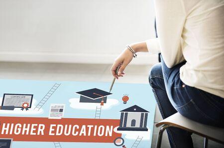 Higher Education Academic Bachelor Financial Aid Concept Stock fotó