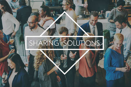 strategy meeting: Sharing Ideas Solutions Knowledge Together Concept
