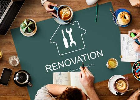 construction project: Construction Design Project Renovation Concept