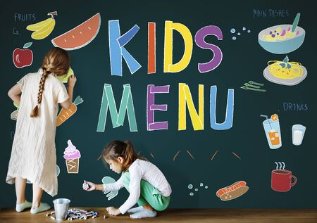 childrens food: Kids Menu Cuisine Dishes Meal Concept