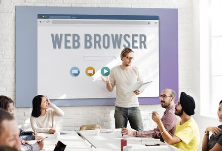 boardroom: Generic Web Browser Online Page Concept Stock Photo