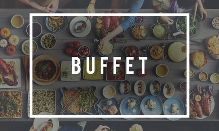 kulinarne: Buffet Food Catering Cuisine Culinary Eating Concept