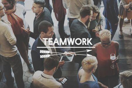 synergy: Team Teamwork Teambuilding Synergy Empower Concept