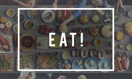 Eat Food Eating Delicious Party Celebration Concept