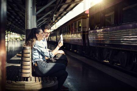 Paar Reizen Reis Saamhorigheid Concept
