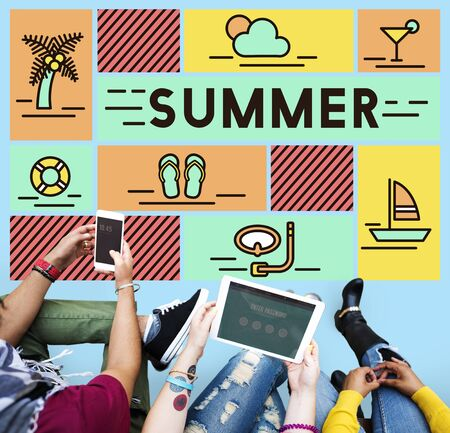 summer holiday: Summer Holiday Rest Vacation Relaxation Concept