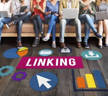 Linking Connection Share Hyperlink Concept Stock Photo