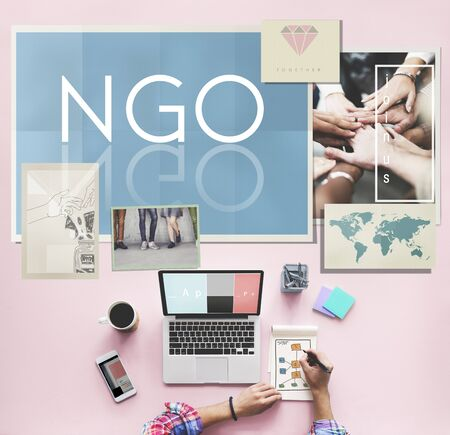 contribution: NGO Contribution Corporate Foundation Nonprofit Concept
