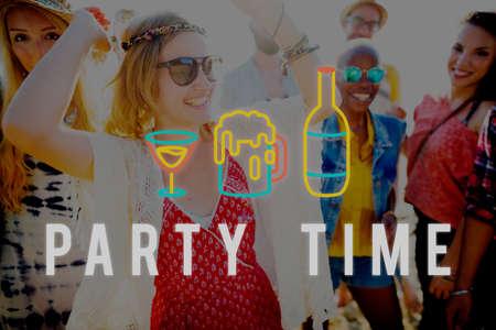 liquor girl: Party Night Life Fun Enjoy Concept Stock Photo