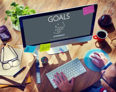 believe: Goals Aim Aspiration Believe Inspiration Target Concept