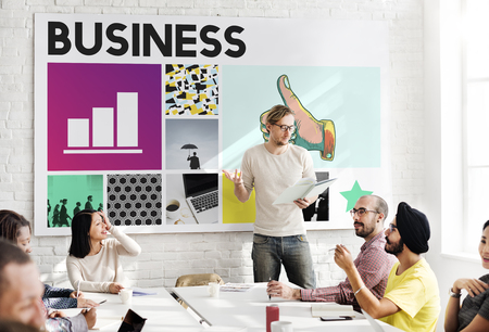 corporation: Business Strategy Growth Corporation Concept Stock Photo