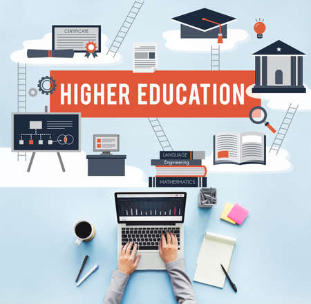 higher education: Higher Education Academic Bachelor Financial Aid Concept Stock Photo