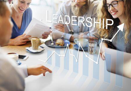 authoritarian: Leadership Management Skills Leader Support Concept