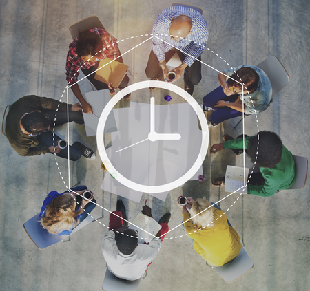 Time Management Duur Interval Graphic Concept Stockfoto