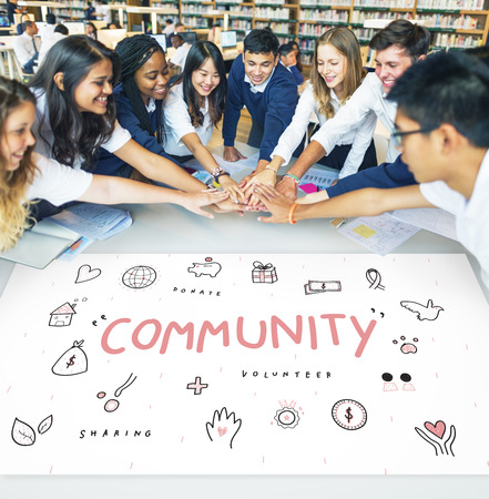 Community Donations Charity Foundation Support Concept Imagens