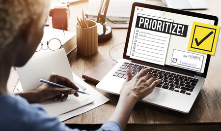 errand: To Do List Time Management Reminder Prioritize Concept Stock Photo