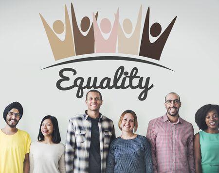 fundamental: Equality Fairness Fundamental Rights Racist Discrimination Concept