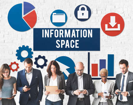 business graphics: Information Space Networking Connection Concept