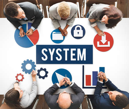 System Structure Technology Graphic Concept Stock Photo