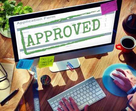 accepted: Approved Accepted Application Form Mark Concept Stock Photo