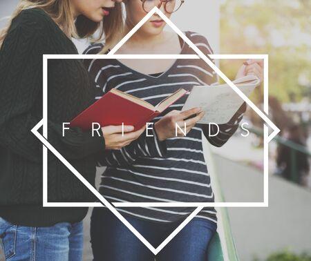 book reviews: Friends Friendship Friendly Community Team Unity Concept Stock Photo