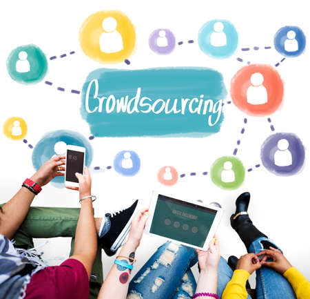 crowdsourcing: Crowdsourcing Collaboration Information Content Concept Stock Photo