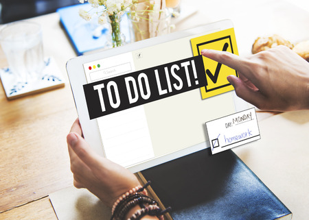 to do list: To Do List Time Management Reminder Prioritize Concept Stock Photo