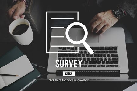 finder: Survey Results Research Investigation Discovery Concept