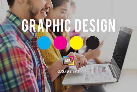 graphics design: Design Graphic Creative Planning Purpose Draft Concept Stock Photo