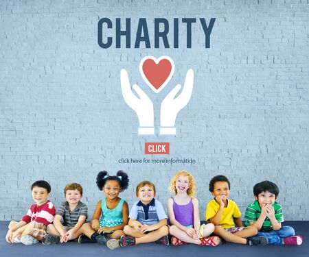 elementary age: Charity Donation Help Support Charitable Assistance Concept