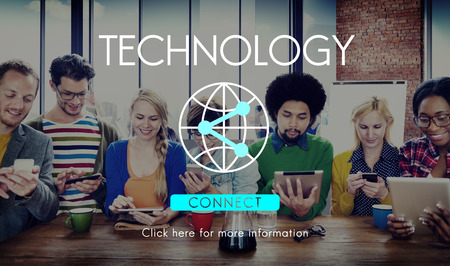 place to learn: Connection Internet Communication Network Sharing Concept