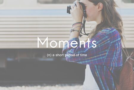 living moment: Moments Period of Time Life Momeries Concept Stock Photo