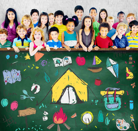 girl scout: Summer Camp Learning Exploration Outdoors Concept