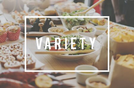 variety: Food Party Buffet Variety Dining Concept
