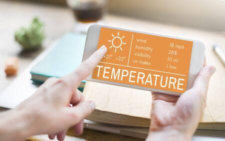 uv index: Temperature Heat Hot Weather Climate Concept