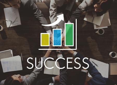 companionship: Success Increasing Bar Chart Concept