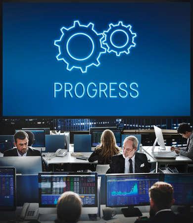 hectic: Business Achievement Progress Develpoment Cogwheel Concept
