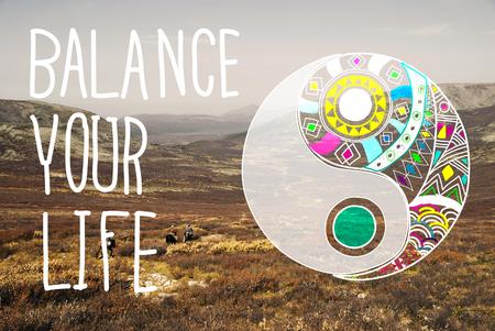 당신의 인생 평등 꾸준한 개념을 균형